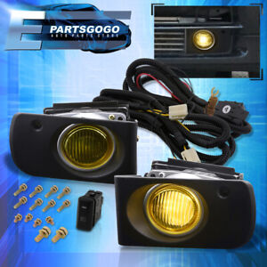 For 94 97 Acura Integra Yellow Lens Fog Lights Driving Lamp Switch Harness