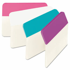 Post it Tabs 2 Angled Tabs 1 5 cut Tabs Assorted Pastels 2 Wide 24 pack