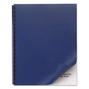 Opaque Plastic Presentation Binding System Covers 11 X 8 1 2 Navy 50 pack