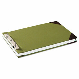 Canvas Sectional Storage Post Binder 2 Posts 3 Capacity 8 5 X 14 Green
