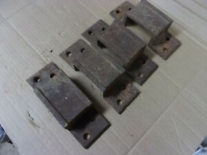 4 Vtg Antique Hit And Miss Small Gas Engine Cart Wagon Side Board Stake Brackets
