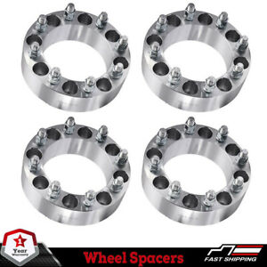 4pcs 8x6 5 To 8x6 5 Wheel Spacers Adapters For Most 8 Lug Chevy Gmc 2 Inch