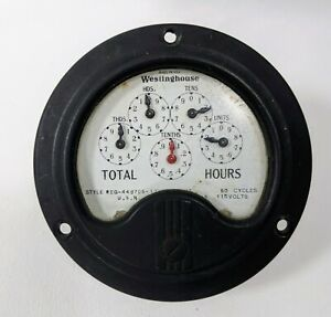 Vintage Antique Westinghouse Electric And Mfg Co Hour Meter Gauge Steampunk