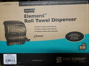 San Jamar Element Lever Roll Towel Dispenser Black sjmt990tbk
