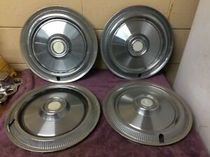 Plymouth 60s Vintage Belvedere Fury Hub Cap Wheel Covers 14 Set Of 4 Used