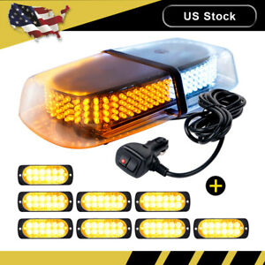 240 Led Emergency Roof Beacon Strobe Light Amber White 8pcs 12 Led Lights