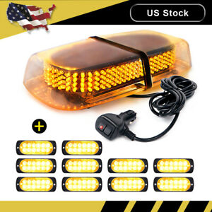 240 Led Emergency Top Roof Flash Beacon Strobe Light Amber 10pcs 12 Led Lights
