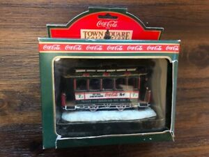 1992 Coca Cola Old Number Seven Trolley Town Square Accessory #64310 MIB