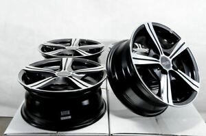14x6 4x100 Black Wheels Fits Civic Scion Ia Iq Xa Xb Cobalt Spark 4 Lug Rims