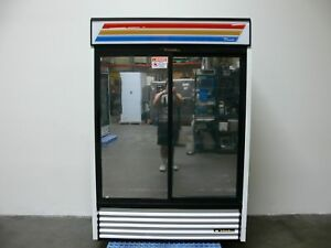 True Gdm 47 Reflective Sliding Glass Door Merchandiser Refrigerator