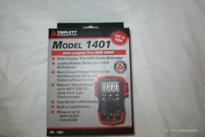 Triplett 1401 True Rms Compact Digital Multimeter 600 Vac vdc 600 60 Mohm