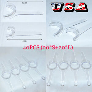 Usa 40pcs Dental Retractor For Side Lip Expander Oral Mouth Cheek Openers mixed