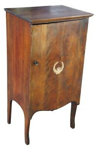 Early 20th Century Antique Solid Mahogany Sheet Music Storage Cabinet Victorian