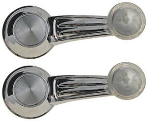 2 Manual Window Crank Handles Chrome For 1968 1976 Chevy Gmc Truck Blazer Jimmy