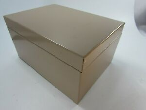 Buddy Products Metal Index Card File Box Recipes Vintage Tan Beige 31523