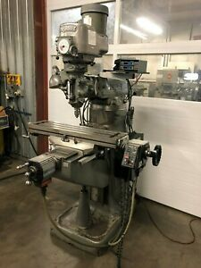 Bridgeport Milling Machine 1 1 2 Hp W Servo Ii Cnc System Beginners Machine