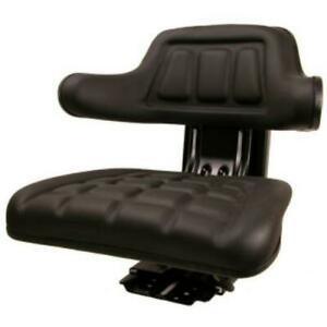 Black Universal Tractor Suspension Seat Fits Ford new Holland Naa 2n 8n 9n 800