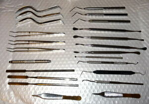 Huge Lot Of 40 Misc Dental Instruments