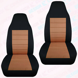 Designcover Front Car Seat Covers Blk Tan Fits 04 2012 Ford Ranger Bucket Seats