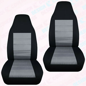 Designcover Front Car Seat Covers Blk Silver Fits 04 12 Ford Ranger Bucket Seat