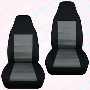 Designcover Front Car Seat Covers Blk Charcoal Fits 04 12ford Ranger Bucket Seat