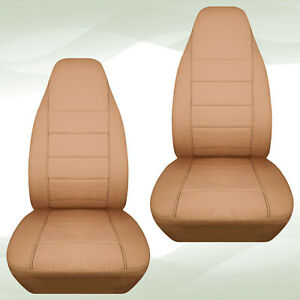 Designcover Front Car Seat Covers Solid Tan Fits 04 12ford Ranger Bucket Seats