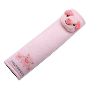 Pig Cute Fur Seat Belt Shoulder Pad Cover For Adults Children Comfortable Drive