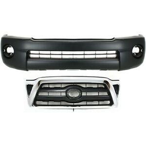 Bumper Cover Kit For 2005 2008 Toyota Tacoma Front 2pc Textured