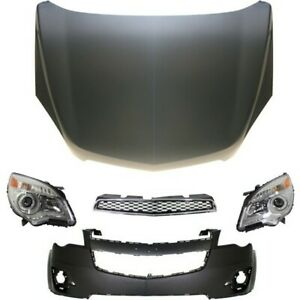Bumper Cover Kit For 2010 2015 Chevy Equinox Front 5pc