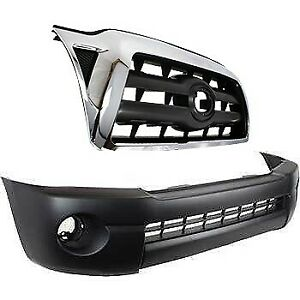 Bumper Cover Kit For 2005 2008 Tacoma Front With Holes For Air And Fog Light 2pc