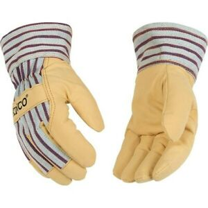 Kinco 1927 Grain Pigskin Leather Palm Winter Gloves W heatkeep Lining Med Xl