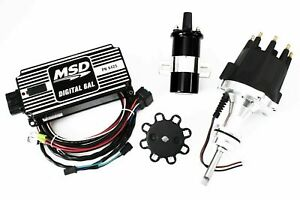 Msd Ignition 6al Box W Tsp Pro Billet Distributor Dodge 318 340 360 Black