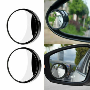 2 Pcs 360 Wide Angle Blind Spot Mirror Convex Rear Side View Hd Universal Auto