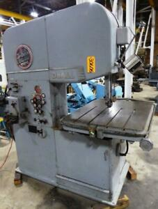 26 Doall Vertical Bandsaw No 26 3 55 10 000 Fpm 32 X 41 Hyd Table 30606