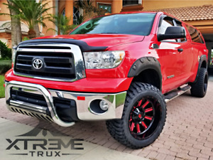Fits Textured Black 07 13 Toyota Tundra Boss Pocket Fender Flares Bolt On Rugged