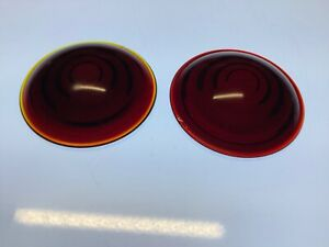 Pair Lancaster 220 Vintage Red Glass Lens Truck Tail Light Stop Lamp 2 9 16