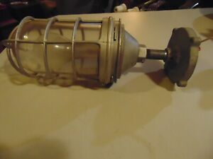 Vintage Crouse Hinds Explosion Proof Light Fixture Complete