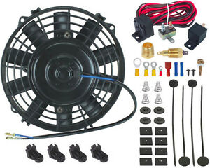 7 Inch Electric Oil Cooler Fan 3 8 Ground Thermostat Relay Wiring Switch Kit