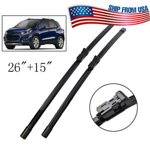 Set Of 2 Windshield Flat Wiper Blades Front Window Set For Chevrolet Trax 12 19