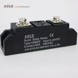 Industrial Module 80a Single Phase Solid State Relay H380zf Dc ac