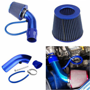 Universal Air Intake Kit Blue Pipe 3 cold Air Intake Filter Clamp Accessories