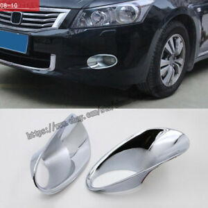 For Honda Accord Sedan 2008 2010 Chrome Front Fog Light Lamp Bezel Cover Trim 2x