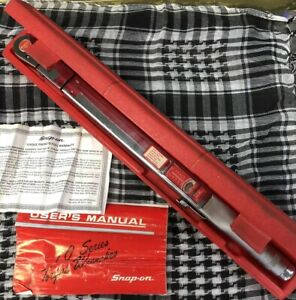 Snap On Flex 1 2 Drive Head Torque Wrench Tqfr 250c With Case And Manual