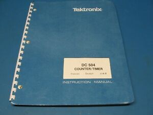 Tektronix Dc504 Counter timer Plug In For Tm500 Series Service Manual
