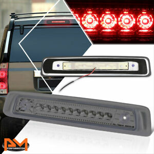 For 06 10 Jeep Commander Full Led Third 3rd Tail Brake Light Stop Lamp Smoked