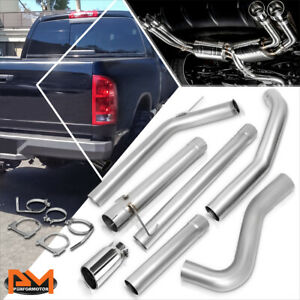 For 03 04 Dodge Ram Truck 2500 5 9l Diesel Turbo 5 Round Tip Catback Exhaust