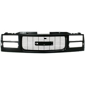 Grille Assembly For 94 98 Gmc C1500 94 2000 K2500 W Headlight Holes