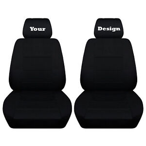 Black Seat Covers With Your Choice Of Design Fits 2011 To 2014 Ford Mustang