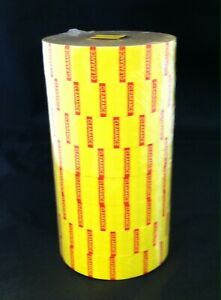 Yellow Clearance Labels For 1136 1138 Monarch Labelers 8 Rolls 1 Inker