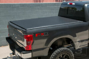 17 20 F250 F350 Super Duty 6 8ft Short Bed Locking Roll Up Vinyl Tonneau Cover